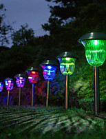 10pcs 1-LED White/Color Changing Solar Stainless Steel Lawn Light Pathway Garden Lamp