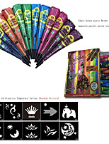 12Pcs/Box  Indian Henna Tattoo Paste ConeS Body Art temporary Fake Finger Tattoo  About 30G