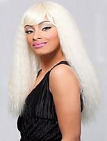 las pelucas sintéticas del pelo blanco marea caliente peluca femenina pelucas de volumen esponjoso de color plateado