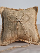 Ring Pillow Linen Beach Theme / Garden Theme / Asian Theme / Classic ThemeWithRibbons
