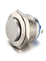 19Mm 12V Momentary Push Button Metal Switch For Car Silver