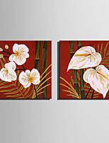 mini størrelse e-home oliemaleri moderne bambus og blomster ren hånd tegne rammeløse dekorative maleri
