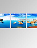 Famoso / Paisaje / Patriótico / Moderno / Romamticismo Impresión de la lona Tres Paneles Listo para colgar,Horizontal