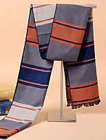 Korean Men's Striped  Winter Warm Cashmere Dual-use Scarves