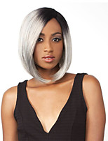Women Exquisite Middle Length Straight Multi-Color Synthetic Wig
