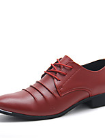 Men's Shoes Casual Leather Oxfords Black / Blue / Red