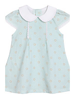 Girl's Blue Dress Cotton Summer