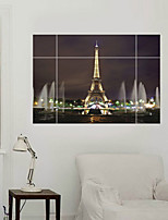 3D Wall Stickers Wall Decals Style Eiffel Tower Waterproof Removable PVC Wall Stickers