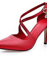 Women's Shoes Stiletto Heel/D'Orsay & Two-Piece/Pointed Toe Heels Wedding/Party & Evening/Dress Red/White