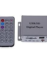 coches casa mp3 de alta fidelidad amplificador de potencia de audio estéreo + usb sd + control remoto
