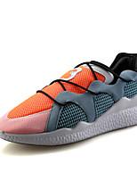 Scarpe Sneakers Da uomo Tulle Nero / Arancione
