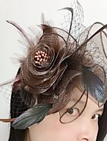 Veren / Net Vrouwen Helm Bruiloft / Speciale gelegenheden Fascinators Bruiloft / Speciale gelegenheden 1 Stuk