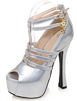 Women's Shoes Stiletto Heel / Peep Toe / Platform Sandals Wedding / Party & Evening / Dress Pink / Silver / Gold