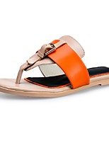 Scarpe Donna-Sandali-Tempo libero / Formale / Casual-Infradito-Basso-Pelle-Blu / Rosa / Arancione