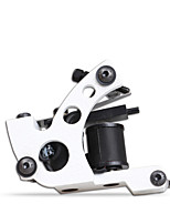 professionele 10 wraps spoel tattoo machine voor shader liner witte kleur handgemaakte tattoo machine