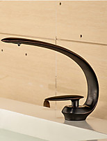 Centerset Single Handle One Hole in Oil-rubbed Bronze Bathroom Sink Faucet