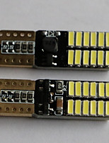 t10 4014-24smd multicolor de luces laterales