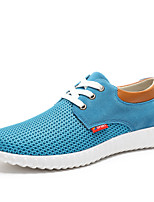 Men's Shoes Outdoor / Athletic / Casual Tulle Fashion Sneakers Blue / Gray / Khaki