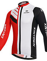 XINTOWN Men's Outdoor Sports Long Sleeve Cycling Jersey