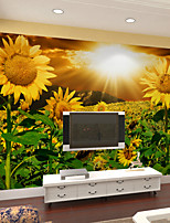 JAMMORY Floral Wallpaper Contemporary Wall Covering,Other Large 3D Sunflower Mural Wallpaper