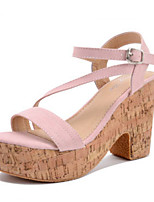 Women's Shoes    Chunky Heel Heels / Open Toe Sandals Outdoor / Casual Pink / Beige