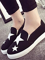 Women's Shoes Canvas Flat Heel Comfort Loafers Outdoor / Casual Black / Blue / Red / White