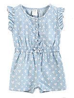 Girl's Blue Dress Cotton Summer / Spring