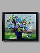 Floral/Botânico Pinturas a Óleo Emolduradas 32cm x 27cm x 4cm / 12.6 inch x 10.6 inch x 1.6 inch / width x height x depth Wall Art,