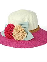 Newest Beach Straw Hat Flower