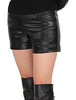 Pantalons Ceinture Non Incluse Peau d'Agneau Femme