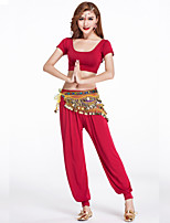 Belly Dance Outfits Women's Training Modal Draped 2 Pieces Black / Fuchsia / Army green / Orange / Purple / White