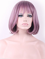 Fashional Taro Purple Neat Bang BOBO Synthetic Hair Cosplay Wig Hot Sale.