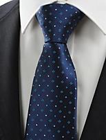 Green Checked Pattern Navy JACQUARD Men's Tie Necktie Formal Suit Gift KT0024