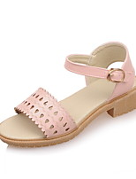Women's Shoes Low Heel Sling back/Mary Jane/Open Toe Sandals Dress/Casual Pink/White/Beige