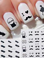 12pcs Стикер искусства ногтя 3D наклейки на ногти макияж Косметические Nail Art Design