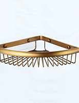 Bathroom Shelf,Neoclassical Antique Copper Wall Mounted
