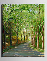 mini størrelse e-home oliemaleri moderne veje i skoven ren hånd tegne rammeløse dekorative maleri