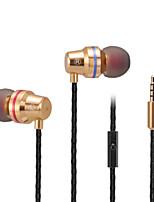 cellulare auricolare auricolari auricolari metallici bassi cella stereo abingo S500i con microfono per smartphone