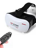 montaje en caja de cartón vr Google cabeza de la película 3d gafas de realidad virtuales controlador de plástico + bluetooth para móviles