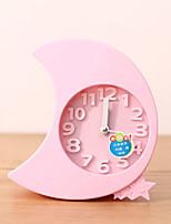 Creative Plastic  Mini moon  Desktop Needle Quartz Alarm Clock (Random Color)