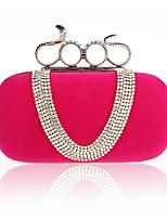 Women PU Baguette Clutch / Evening Bag / Wallet / Key Holder / Coin Purse-Red / Black