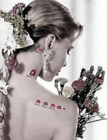 Tatuaggi adesivi-Altro-CJC-Da donna / Da uomo / Adulto / Teen-5-Modello- diCarta-7*10*1cm-Multicolore-Non Toxic / Fantasia / Waterproof /