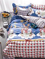 100% katoen patroon beddengoed serie 4-delige dekbedovertrek set, queen size