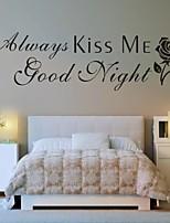 Parole e citazioni / Romanticismo / Fashion / Astratto / Fantasia Adesivi murali Adesivi aereo da parete,PVC M:30*100cm/ L:42*142cm
