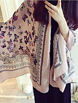 Korean Version Of The National Wind Cotton Butterfly Printing Pink Scarf Shawl Sunscreen Scarves