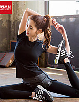 Mulheres Camiseta Esporte Respirável / Redutor de Suor / Macio Preto S / M / L / XL Ioga / Pilates / Fitness / Corrida-Outros
