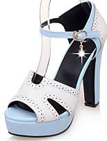 Women's Shoes Chunky Heel Heels/Platform/Sling back/Open Toe Sandals Party & Evening/Dress Green/Pink/Beige