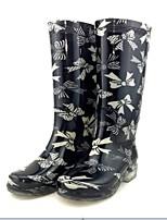 Chaussures Femme-Extérieure-1# / # 2-Talon Plat-Bottes de Pluie-Plates / Bottes-Silicone