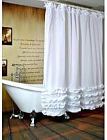 Modern Ruffled Shower Curtains W71