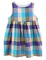 Girl's Multi-color Dress Cotton Summer